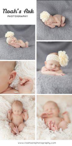 Cute newborn photos!  Baby photos rock!