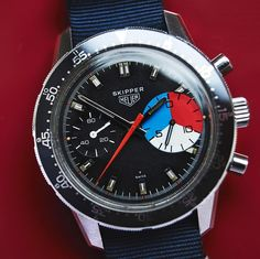 Bring a Loupe: A Selection Of Vintage Chronographs Including A Rare Rolex 'Pre-Daytona' A Heuer Skipper And A Universal Geneve Tri-Compax Tag Heuer, Mens Toys, Gents Fashion, Vintage Fur, Vintage Ideas, Watches For Men, Men's Watches, Black Watches, Pocket Watches