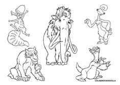 Free Printable Ice Age Coloring Pages - Printable Coloring Pages To Print Dinosaur Coloring Pages, Cartoon Coloring Pages, Animal Coloring Pages, Coloring Pages To Print, Free Coloring Pages, Printable Coloring Pages, Coloring Sheets, Adult Coloring, Coloring Books