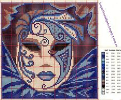 schema carnevale - maschera veneziana You are in the right place about salute citation Here we offer you the most beau - Cross Stitching, Cross Stitch Embroidery, Cross Stitch Patterns, Cross Stitch Boards, Just Cross Stitch, Seed Bead Projects, Butterfly Cross Stitch, Plastic Canvas Patterns, Le Point