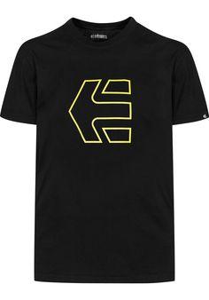 etnies Icon-Outline, T-Shirt, black-yellow Titus Titus Skateshop #TShirt #MenClothing #titus #titusskateshop