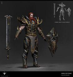 ArtStation - Paragon Character Greystone Concept, Herman Ng