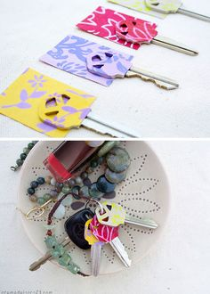 Color Code Your Keys   23 Life Hacks Every Girl Should Know   Easy Organization Ideas for Bedrooms