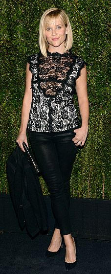 Reese Witherspoon at Drew Barrymore's book launch at the Chanel boutique in Beverly Hills