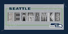 Seattle Seahawks Alphabet Photo Collage by AlphabetphotosbyMP, $30.00