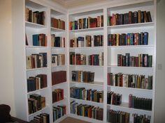 corner bookcase idea
