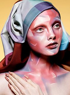 Alex Box newest work! 'Stylist Art Project'     Alex Box has a unconventional approach to make-up which emerged from her Chelsea art  school experimentation's in sculpture and performance, Alex Box's mature  work uniquely merges fantasy, fashion,