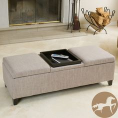 Christopher Knight Home Harold Fabric Storage Ottoman | Overstock.com Shopping - The Best Deals on Ottomans