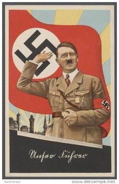 Adolf Hitler Propaganda in Nazi Germany Second World War - Hitler Nagasaki, Hiroshima, Nazi Propaganda, Fukushima, Ww2 Posters, German People, World War Two, Vintage Posters, Wwii