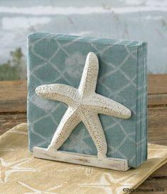 Tropical Nautical Starfish Lunch Napkin Holder : Amazon.com : Kitchen & Dining