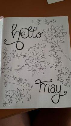 Facebook@BulletJournal-Nederland    #bujo#bulletjournal#maand#may#maandcover#