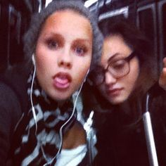 """""""Early morning train ride with @claireholt"""""""