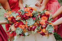Oh, how I love a bright, colorful, rustic chic summer wedding! Is there anything better?! This couple wanted a wedding that was as fun as they are, and that's what they got! It was full of bold colors, sweet details, and bright, beautiful florals. Everything a summer wedding should be! Also,