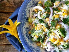 Brokkolisalat - Fra mitt kjøkken Pasta Salad, Cobb Salad, Ethnic Recipes, Food, Crab Pasta Salad, Eten, Meals, Macaroni Salad, Diet