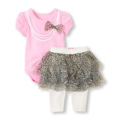 Part skirt, part leggings - cute dressing made easy with a matching bodysuit! #bigbabybasketsweeps