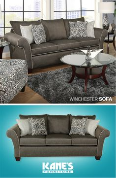 Spruce Up Your Living Room With The Dramatically Designed Winchester Sofa Its Contemporary Style Features