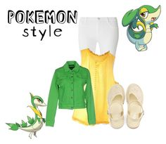 """""""PokemonStyle~ Snivy"""" by eben8910 on Polyvore featuring Dorothy Perkins, J.Crew and Plein Sud Jeanius"""