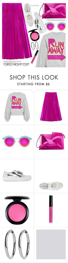 """""""Girls Night Out 💋"""" by chocolate-addicted-angel ❤ liked on Polyvore featuring Karen Walker, Gucci, Alasdair, Frēda Banana, N°21, Acne Studios, MAC Cosmetics, Avon, Farrow & Ball and outfitideas"""