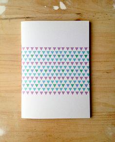 Geometric Notebook Hand Bound Journal Triangle by mipluseddesign