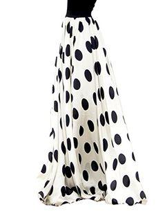 VOGLLY Women's Black Polka Dot Chiffon Summer Beach Pleated Hemline Long Skirt Size 4 US White VOGLLY http://www.amazon.com/dp/B00Y4PPQR4/ref=cm_sw_r_pi_dp_VhrRvb13ARG2V