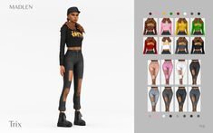 neecxle cc finds ☾✦ Maxis, Lizzy Shoes, Crop Top With Jeans, The Sims 4 Download, Sims 4 Cc Finds, Long Wavy Hair, Sims 4 Clothing, Ts4 Cc, Sims 4 Custom Content
