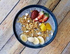 How to Make Vegan Blue Smoothie Bowl - an easy recipe using banana, mango, strawberries, pineapple, blue pea flower extract and coconut cream. Recipes Using Bananas, Pea Flower, Coconut Cream, Smoothie Bowl, Recipe Using, Asian Recipes, Acai Bowl, Pineapple, Brain