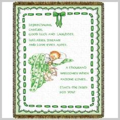 """Irish Baby Blessing """"Leprechauns, castles, good luck and laughter. Lullabies, dreams and love ever after. A thousand welcomes when anyone comes....that's the Irish for you!"""" """""""