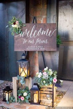 wedding signs for reception . wedding signs for reception entrance . wedding signs for kids to carry . wedding signs for reception funny Rustic Wedding Signs, Wedding Welcome Signs, Chic Wedding, Wedding Table, Wedding Ideas, Rustic Weddings, Lantern Wedding, Wedding Signing Table, Wedding Planning