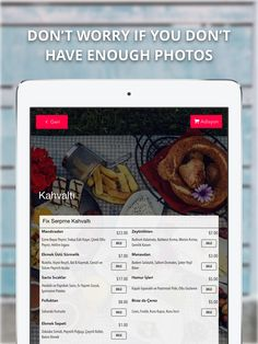 """Don't have any photos for your #menu? No worries! You can use the """"Listview"""" to show many item with a single photo.  #listview #menuphoto #menuphotographs #menuphotograph #menupic #picsformenu #menupictures #foodpic #foodpicture #foodpictures #foodpics #picsformenus #listviews #menuphotos"""