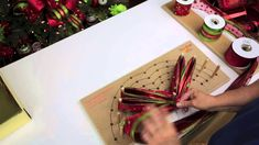 Wreath Bow Video by Regina Sellers using the Large Pro Bow. Get your Pro Bow at Trendy Tree! http://www.trendytree.com/large-pro-bow-the-hand-bowmaker.html #trendytree #bowmaker