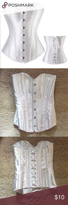 Women's Lace Up Boned Brocade Overbust Corset Just tried on once, great fit! Make me an offer or bundle for a sellers discount! Intimates & Sleepwear Shapewear