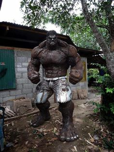 The Hulk made from scrap metal