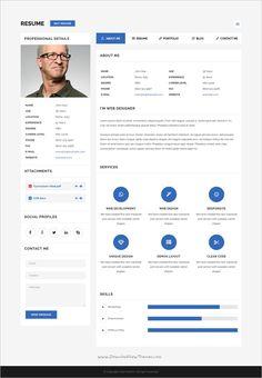 Curriculum, V Card, Design Responsive, Cv Online, Web Design, Portfolio Website Design, Photoshop, Layout, Personal Portfolio