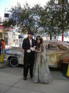 Zombie wedding wow.