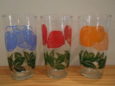 vintage sour cream glasses