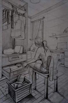 Özel yetenek sınavlarına hazırlık imgesel çizimi #imgesel #karakalem #üniversite #resim #gsf #güzelsanatlar