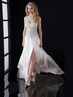 A-line Sweetheart Chiffon Ivory Long Prom Dresses/Evening Dress With Beading AUSA0247728 $238.99 #ausa0247728 #with #prom #aline #ivory #long #dresses/evening #my wedding #bridal #beading #wedding dress #bridal gown #dress #wedding #sweetheart #chiffon