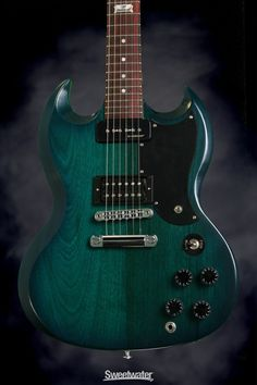 Gibson SG Futura - 2014, Pacific Blue Fade Vintage Gloss, with Min-ETune
