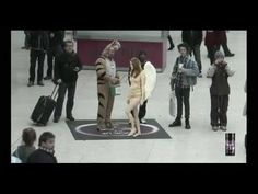 """""""Falling Angels"""" part two. Taking it viral with holograms in avery busy London Train Station."""