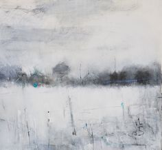 Hannah Woodman, 'Winter Fields & Stone Wall, Nr St Just' 2014 Pencil, Oil & Gesso on paper Abstract Landscape Painting, Landscape Drawings, Landscape Art, Landscape Paintings, Painting Snow, Winter Painting, Winter Art, St Just, Winter Landscape