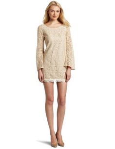 Nude long sleeve mini dress. <3   Disclaimer: This is an amazon.com affiliated link.