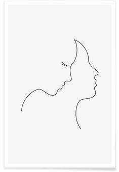 Hair en Affiche premium par Wuukasch | JUNIQE #artideas
