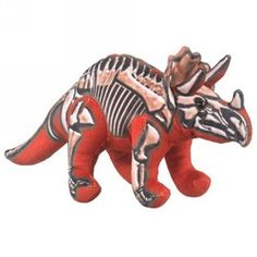 """Skelesaurs Triceratops by Wildlife Artists - SKL-1705TT  This is the perfect gift for that special dinosaur lover. Its not only playful but very educational as well. It brings a little piece of fun learning into the home as well as adding science. 11"""" long"""