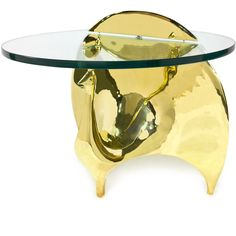 Jonathan Adler Brass Peacock Side Table ($3,800) ❤ liked on Polyvore featuring home, furniture, tables, accent tables, table, brass accent table, brass furniture, peacock furniture, polish furniture and jonathan adler