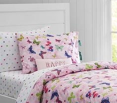 Organic Lace Butterfly Duvet Cover #pbkids