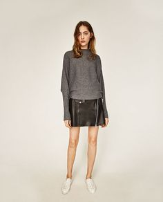 Image 1 of BATWING SLEEVE SWEATER from Zara