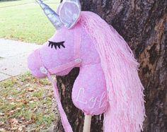 Unicorn stick toy/Unicorn hobby horse/Unicorn toy/ Unicorn Wooie