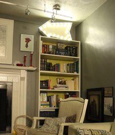 DIY Marquee Sign On Shelf