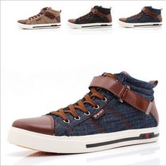Mens Cool High Top Canvas Shoes