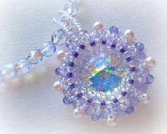 Crystal Star Rivoli Beaded Necklace Unique OOAK от SpringColors